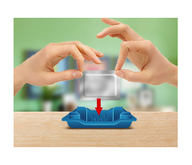 Уложите нагревающий элемент в нижнюю часть корпуса.